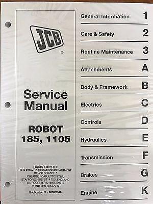 JCB Robot 185 & 1105 Skid Steer Service Repair Manual Shop