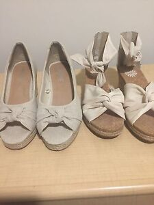 2 high hell wedges UGG & Arden size 6