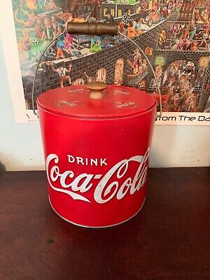 coca cola cooler vintage coke ice chest Wood Metal Red White Bbq