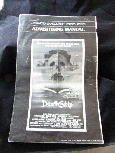 "1980 Movie Pressbook: Death Ship, AVCO Embassy Pictures, 11""x 17"",Richard Crenna"