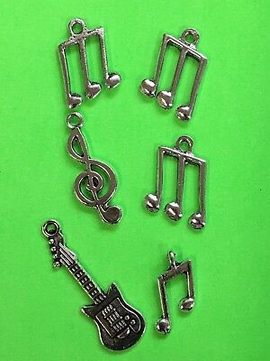 CHARMS music notes guitar fun gift idea stocking stuffer Christmas DIY craft #A5 - Music Costumes Ideas