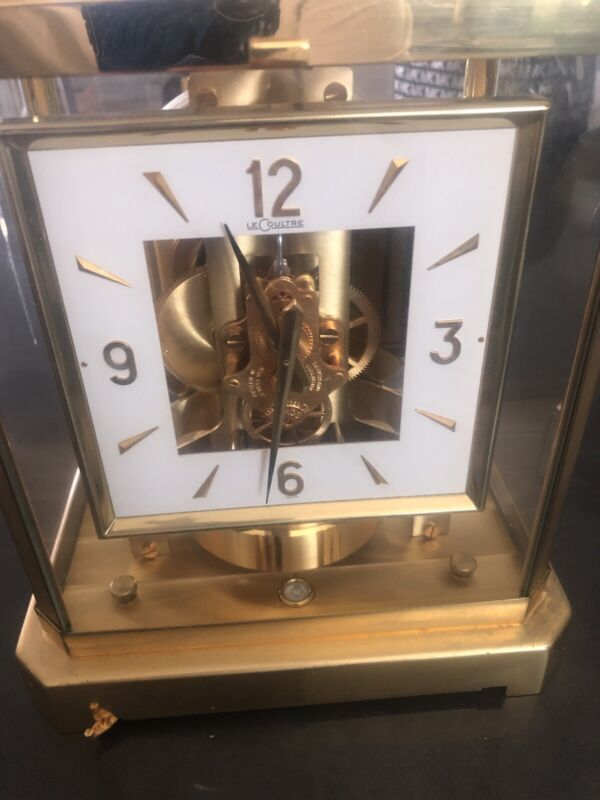 Jaeger LeCoultre Atmos Clock, Model 528-8, Gold plated sides pitted, Runs Great