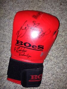MMA fighter-signed boxing glove