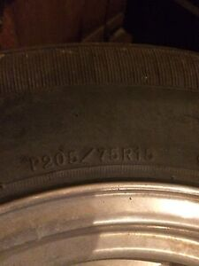 Eagle alloy rims and tires - 205/70r15