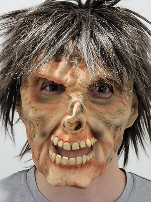 Scary Man Mask Latex Halloween Party Realistic Full Startling Face