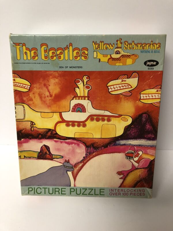1968 Beatles Yellow Submarine Jaymar Puzzle Sea of Monsters Complete