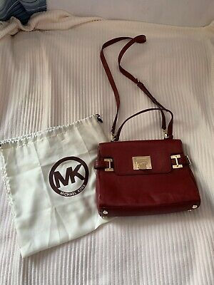 Michael Kors Burgundy Cross Body Leather Small Handbag Only Used A Few Times