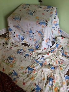 Vintage single bed sheets and other items 1970-80's