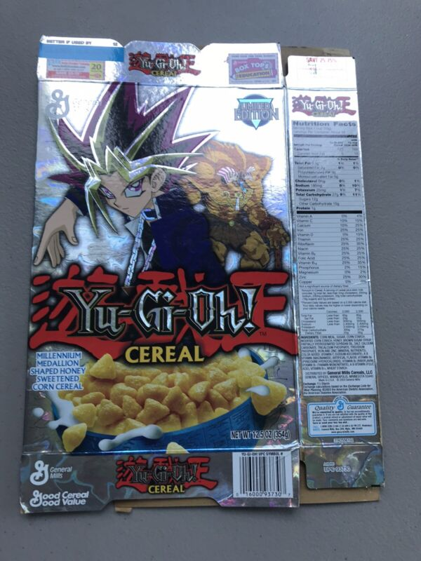 Yu-gi-oh Limited Edition Cereal Boxes 2003 special edition Yu-Gi-Oh!