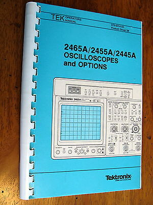 Tektronix 2465a 2455a 2445a Oscilloscope With Options Operating Manual