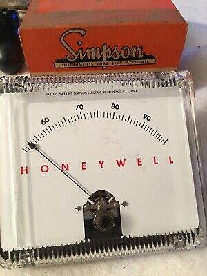 Vintage Simpson Electric Honeywell Meter Cd-4027-71 New In Box Usa
