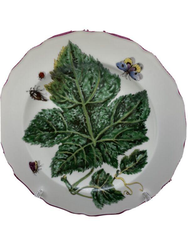 "Mottahedeh Vista Alegre 8"" Salad Plate Chelsea Flowers Botanical"