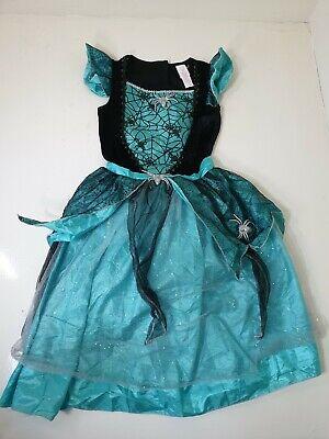 Fancy Dress Halloween Tesco (Tesco F&F Halloween Witch Fancy Dress Costume 11-12 Years Turquoise Spider)