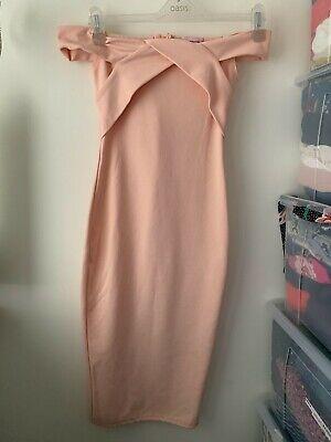 Pink Boutique Bardot Midi Dress Size 8