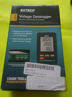 Extech Instruments Sd910 Record 3-channel Dc Mv Reading Voltage Datalogger