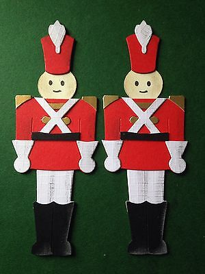 2 Christmas Toy Soldiers Ballet - The Nutcracker - Die Cuts (Toppers/Scrapbook)
