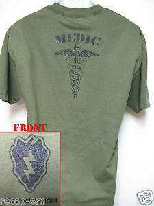 25th-ID-T-SHIRT-MEDIC-T-SHIRT-COMBAT-MILITARY-NEW