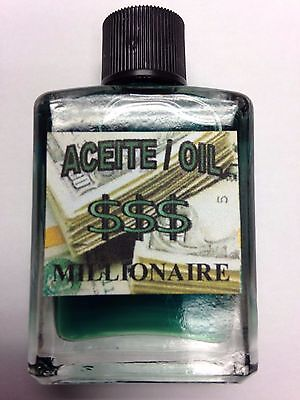 MYSTICAL / SPIRITUAL OIL (ACEITE) FOR SPELLS & ANOINTING 1/2 OZ MILLIONAIRE