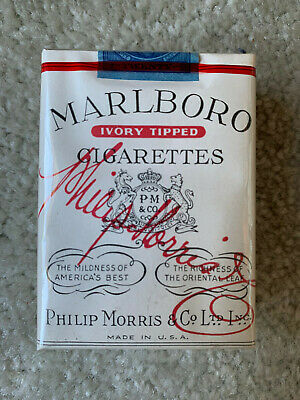 VINTAGE / COLLECTABLE 1954 MARLBORO IVORY TIPPED CIGARETTE PACKET FREE SHIPPING