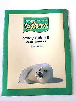 Houghton Mifflin Science GRADE 1 - Student Workbook Study Guide B Consumable 1st