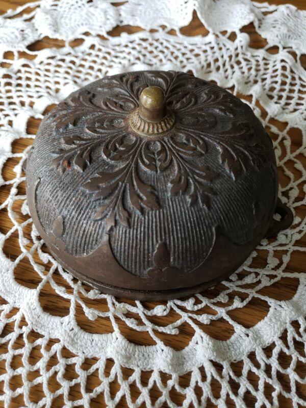 Victorian Ornate Antique Cast Iron Door Bell Pat July 4 1876 & Pat Jan 10 1882