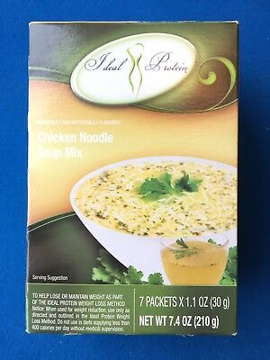 Ideal Protein Chicken Flavoured Noodle Soup Mix - 7 Packets - EXP 5/20 FREE - Flavoured Soup