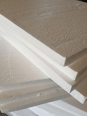 Foam Board Art - 4 LARGE Styrofoam Sheets 16.5x20x1 Foam Board Flats Arts Crafts Packing Shipping