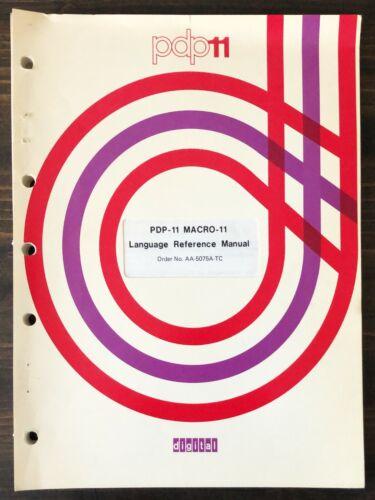Digital DEC PDP-11 MACRO-11 Language Reference Manual 1977