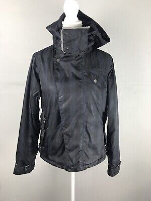 Burton Dutchess Insulated Jacket Coat Black Gray Ski Snowboard Outerwear M