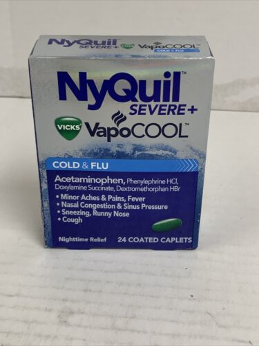 Vicks NyQuil Severe Cold & Flu Relief Caplets, 24 count