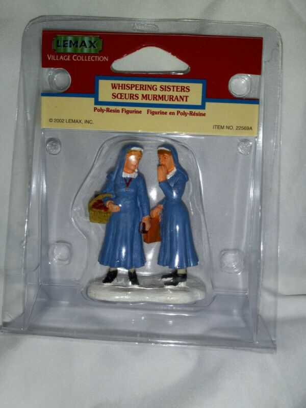 Lemax Village Whispering Sisters nuns Figures New