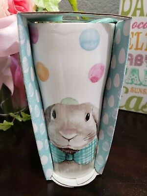 CIROA Easter Parade Bunny Rabbit Jumbo Ceramic Travel /coffee Mug 15.2 OZ  - Jumbo Ceramic Mug