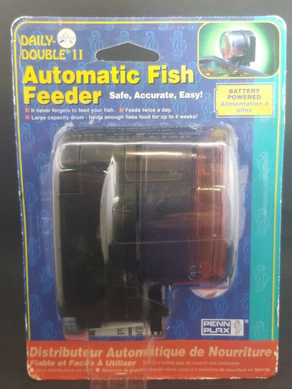 Fish feeder  Daily Double II Automatic Fish Feeder New and Sealed feed twice