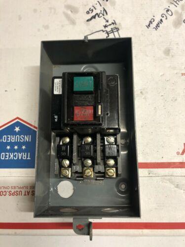 Allen Bradley Manual Starter Size 0 Bul.609-AOW Series G 240-600 Volt AC