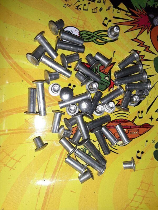 "Tonka Semi Tubular Rivets 1/8"" diameter 48 Piece Assortment. Toy Parts"