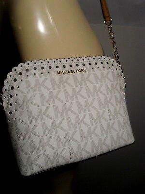 NWT Michael Kors Violet Vanilla PVC Cindy Dome Crossbody Messenger Small Bag MK