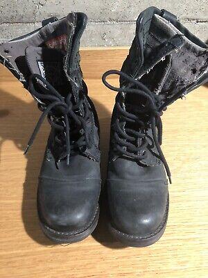 Superdry Panner Boots Black Size 5 UK