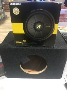 Kicker Subwoofer with Oz Audio Wall Plate Amplifier (250$)