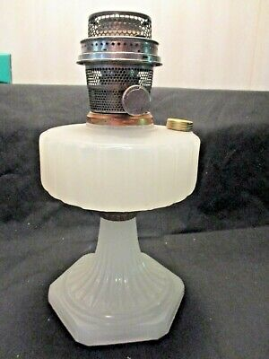 ALADDIN~~CORINTHIAN WHITE MOONSTONE OIL LAMP~~B-114