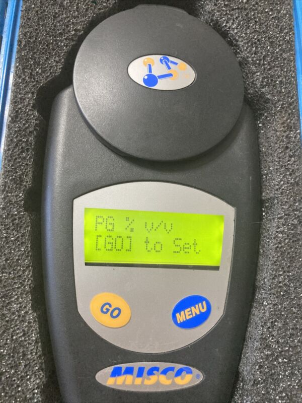MISCO PALM ABBE REFRACTOMETER PA203 GLYCOL ANTIFREEZE, BRIX & REFRACTIVE INDEX