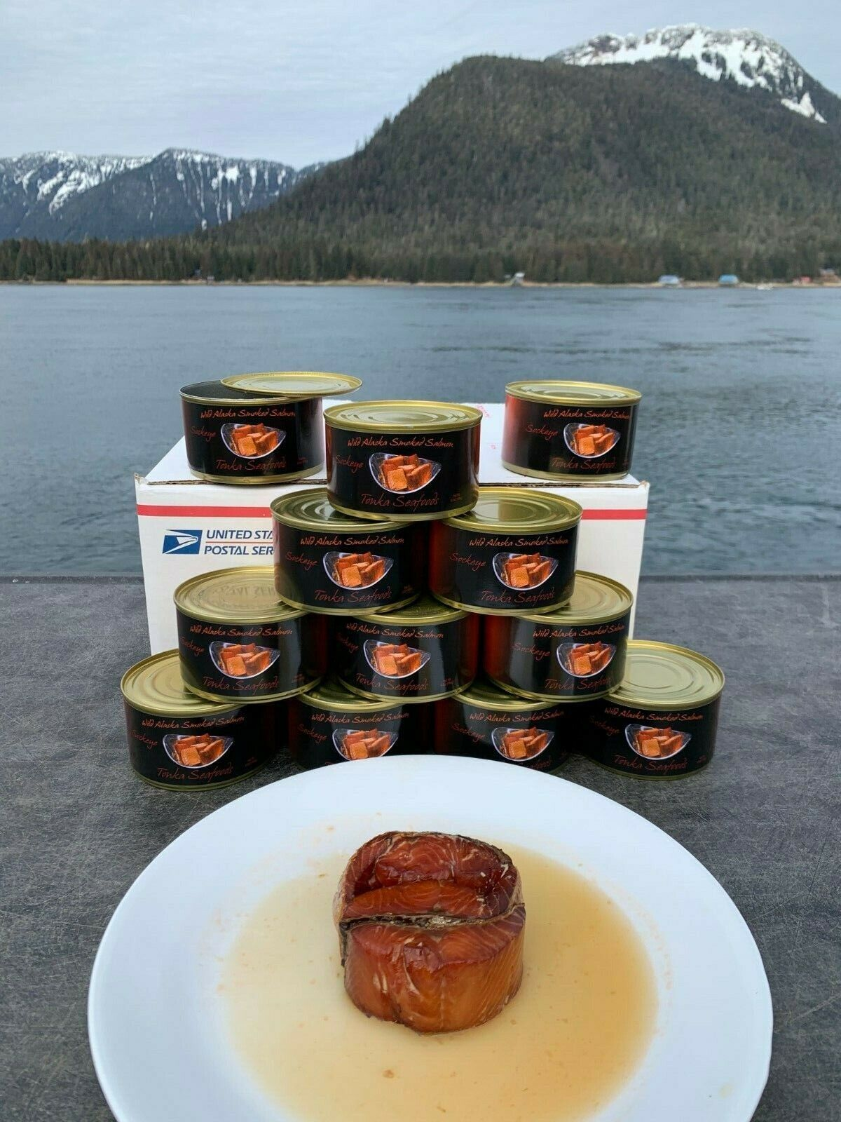 12 Cans of Wild Alaskan Alder Smoked Sockeye Salmon, 6.5 oz per can, Ships Free