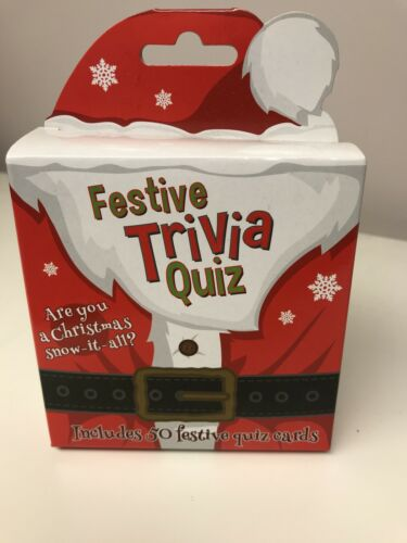 CHRISTMAS TRIVIA QUIZ Travel Fun Game For 2+ Players Festive