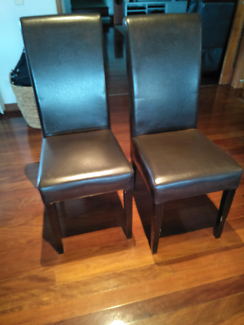 Dining chairs - pair