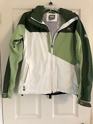 HELLY HANSEN Tech XP Snowboard Ski Winter Jacket Womens Size M Green & Ivory