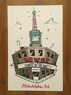 TEMPLE OF THE DOG POSTER TOWER THEATER PHILLY 2016 SOUNDGARDEN CHRIS CORNELL