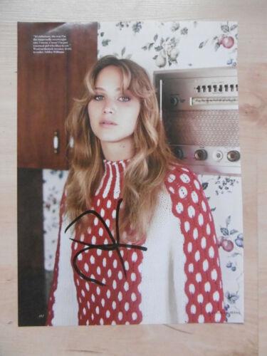 Jennifer Lawrence Autogramm signed A4 Magazinbild
