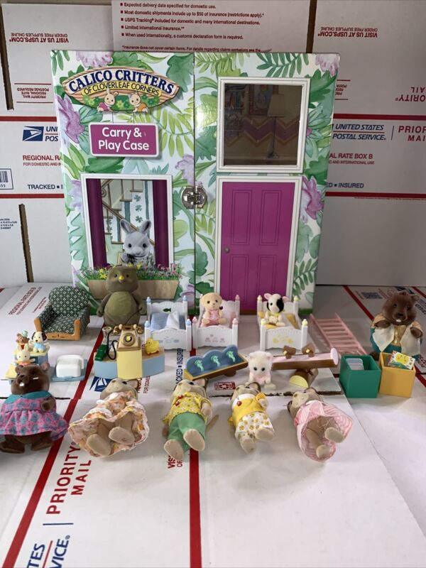Calico Critters Huge LOT Animals,Furniture, Misc Pieces, RARE PIECES!!!