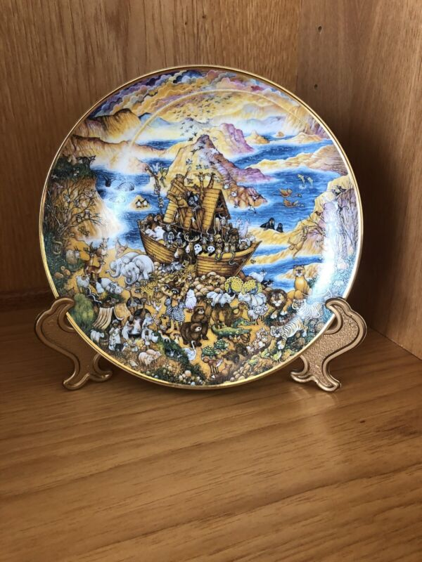 Franklin Mint Limited Edition Plate Bill Bell  TWO BY TWO Noah