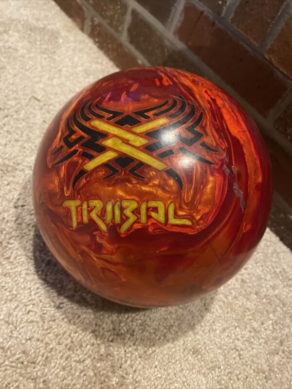 15lb Motiv Tribal Fire Bowling Ball Single Drill