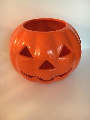 Vintage Pumpkin Jack 'O Lantern Halloween Tea Light Holder Russ Collectibles